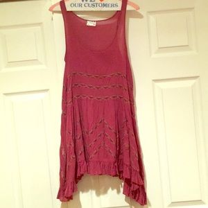Free people lace trapeze slip dress!